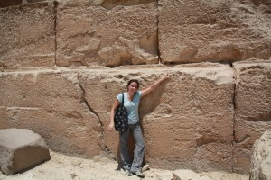 At the base of the Pyramid of Khafre