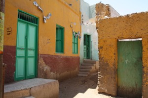 The colorful doorways of a Nubian Village
