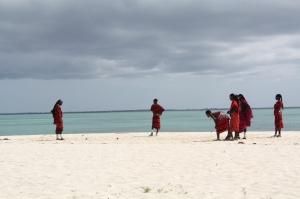 Cultural diffusion: Maasai playin bocci