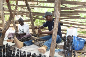 Father and son woodcarving team